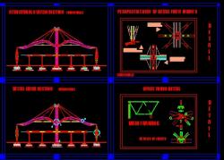 دانلود نقشه اتوکد سازه فضاکار و جزییات اجرایی و اتصلات