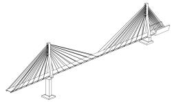 پل ترکه ای پایلون  کابل عرشه تیر فلزی